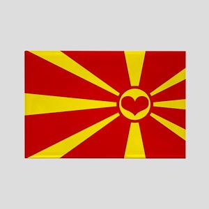 macedonian flag Rectangle Magnet