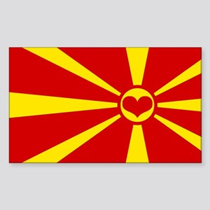 macedonian flag Sticker (Rectangle)