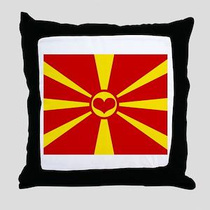 macedonian flag Throw Pillow