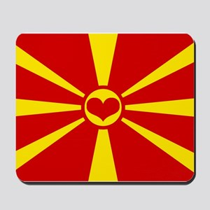 macedonian flag Mousepad