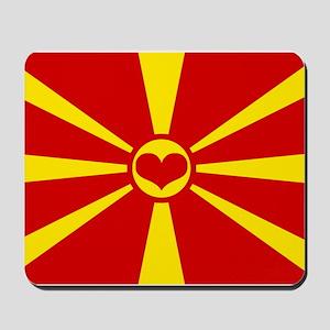 macedonian flag Mousepad