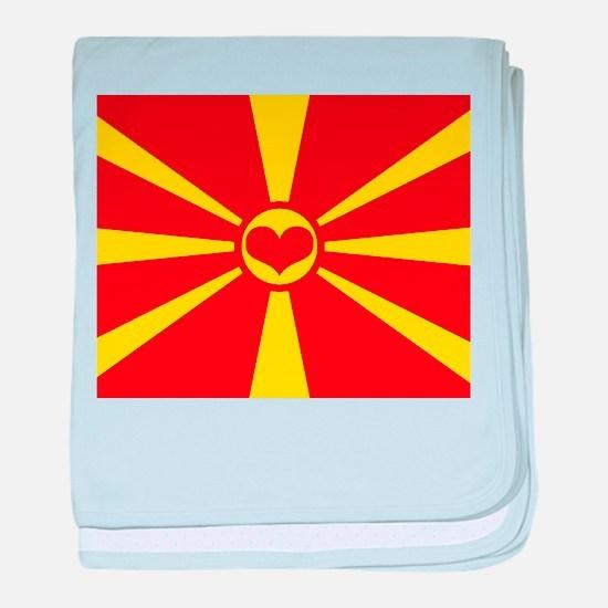 macedonian flag baby blanket
