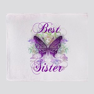 Best Sister Throw Blanket