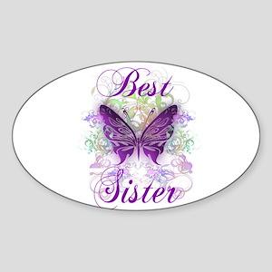 Best Sister Sticker (Oval)