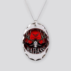 Club bad ass Necklace Oval Charm