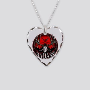 Club bad ass Necklace Heart Charm