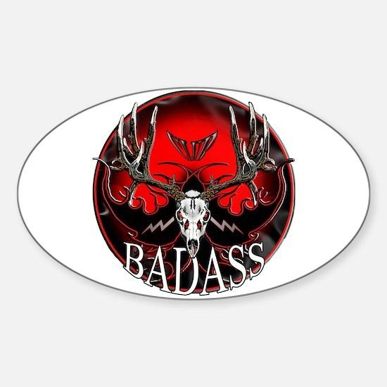 Club bad ass Sticker (Oval)