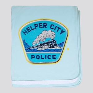 Helper City Police baby blanket