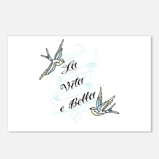La Vita e Bella - Life is Bea Postcards (Package o