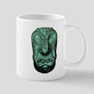 Blue Face Tiki Mug