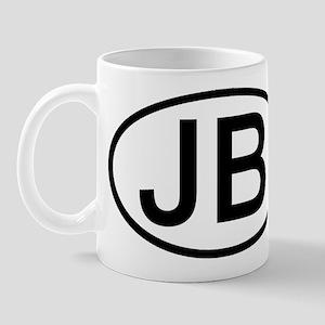 JB - Initial Oval Mug
