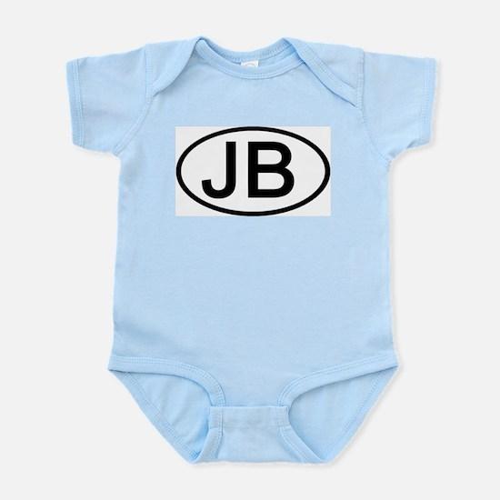 JB - Initial Oval Infant Creeper