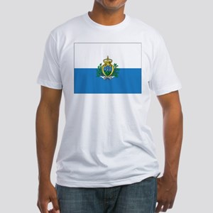 San Marino Flag Fitted T-Shirt