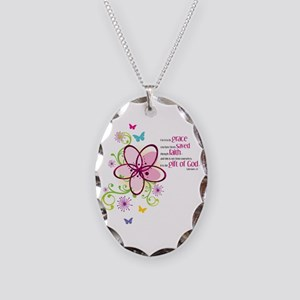 For it is by Grace you have been Saved Necklace Ov