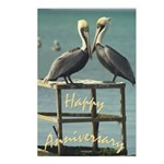 Happy Anniversary Pelicans Postcards (Package of 8