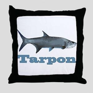 Record Tarpon Throw Pillow