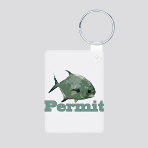 Record Permit Aluminum Photo Keychain