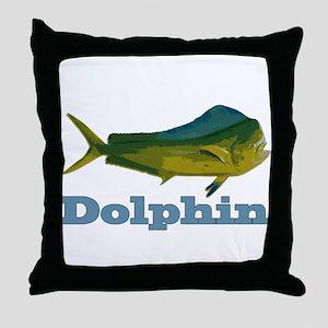 Record Dolphin Throw Pillow