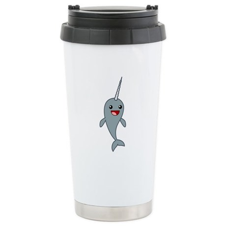 Happy Narwhal Stainless Steel Travel Mug