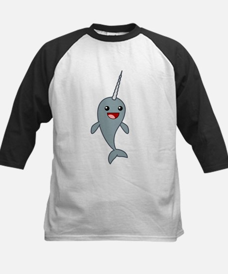 Happy Narwhal Kids Baseball Jersey