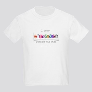 Creativity Colors Outside the Lines Kids Light T-S