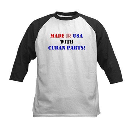 Made in USA with Cuban Parts! Kids Baseball Jersey