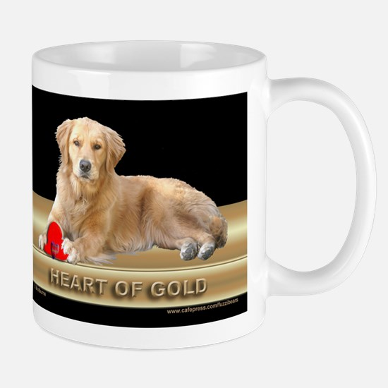 Golden Retriever Mug Heart of Gold/Black