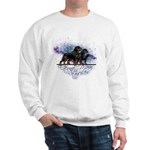 Rottweiler (Starry night)Sweatshrt-Lt