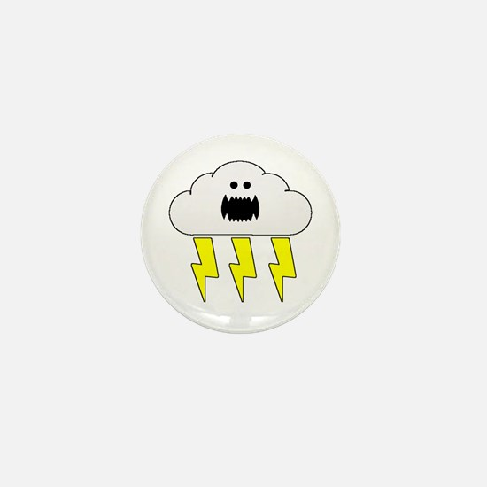 Thunder and Lightning Mini Button