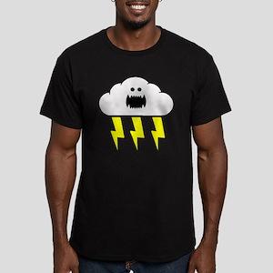 Thunder and Lightning Men's Fitted T-Shirt (dark)