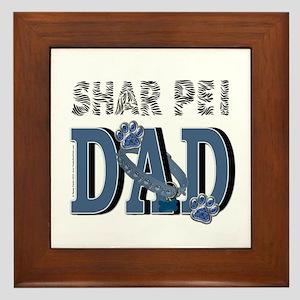 Shar Pei DAD Framed Tile