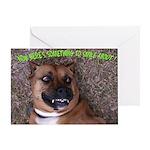 smiling boxer dog Greeting Card