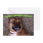 smiling boxer dog Greeting Cards (Pk of 10)