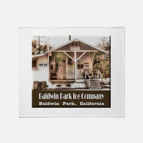 Baldwin Park Ice Company Throw Blanket
