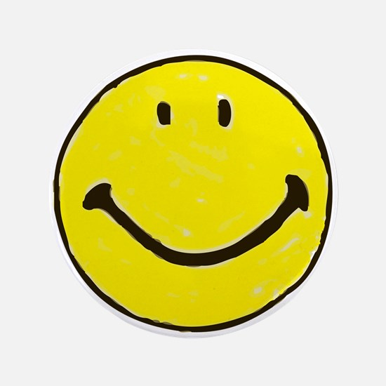 "Original Happy Face 3.5"" Button"