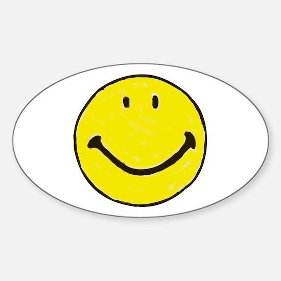Original Happy Face Sticker (Oval)
