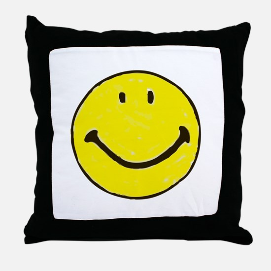 Original Happy Face Throw Pillow
