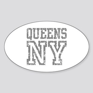 Queens NY Sticker (Oval)