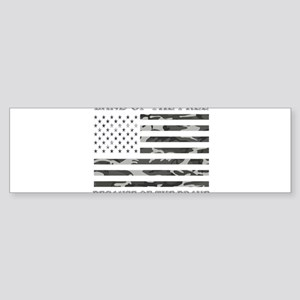 Land Of the Free Because of The Bra Bumper Sticker
