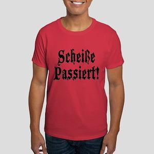 German Scheiße Passiert! Shit Happens Dark T-Shirt