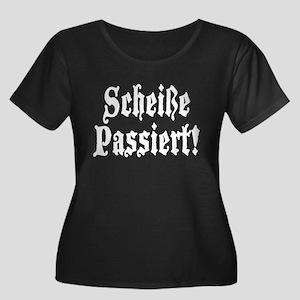 Women's Plus Size Scoop Neck Black T-Shirt