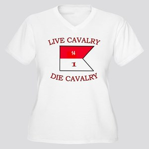 1st Squadron 14th Cavalry Women s Plus Size V-Neck 9245437e3