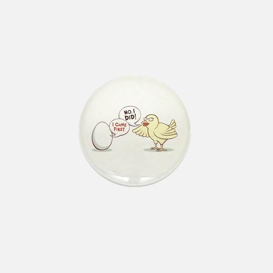 """Chicken or the Egg?"" Mini Button"