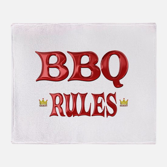 BBQ Rules Throw Blanket