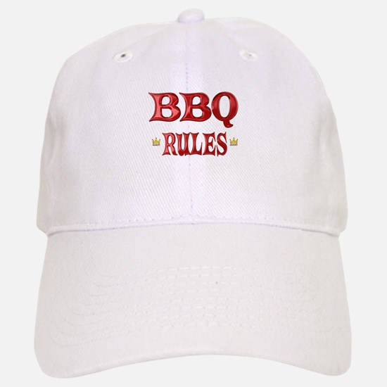 BBQ Rules Baseball Baseball Cap