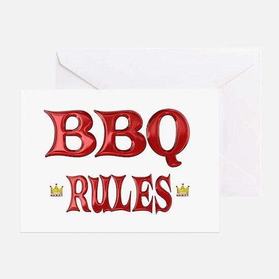 BBQ Rules Greeting Card