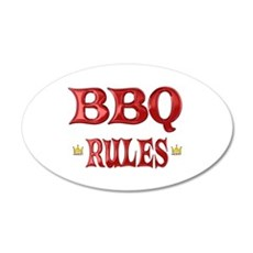 BBQ Rules 22x14 Oval Wall Peel