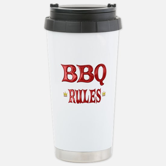 BBQ Rules Stainless Steel Travel Mug