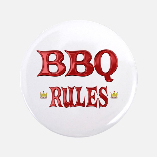 """BBQ Rules 3.5"""" Button (100 pack)"""