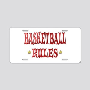 Basketball Rules Aluminum License Plate